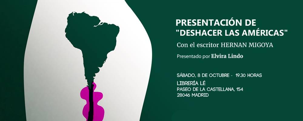 """Presentación de """"Deshacer las Américas"""" en Madrid"""