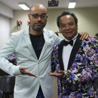 Con el gran cómico peruano Melcochita (Foto de Enrique Planas)
