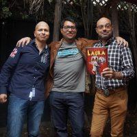 Junto a Ricardo Montes y Marco Sifuentes, autores de Señorita Laura