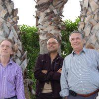 Con los fabulosos Hermanos Calatrava en el Festival Internacional de Cine Fantástico de Sitges durante el estreno de ¡Soy un pelele! Fotografía de Bouman