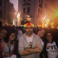 El Día del Orgullo Gay en Lima, con varios amigos activistas.