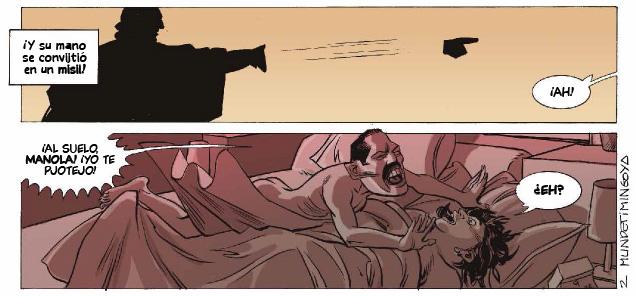 Viñetas del cómic de Joan Mundet y Hernán Migoya