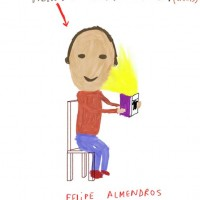 Caricatura por Felipe Almendros