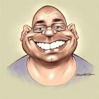 Caricatura por Paco Nájera